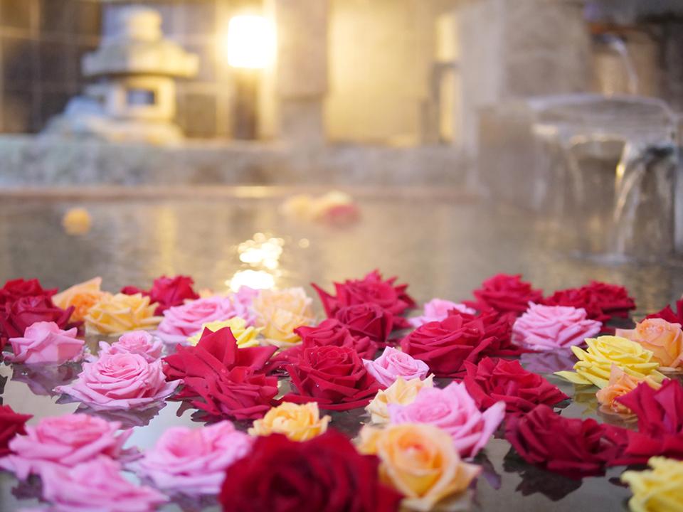 バラ+温泉の美肌効果をお試しあれ♪